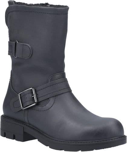 Divaz Whitney Ladies Mid Boot Black